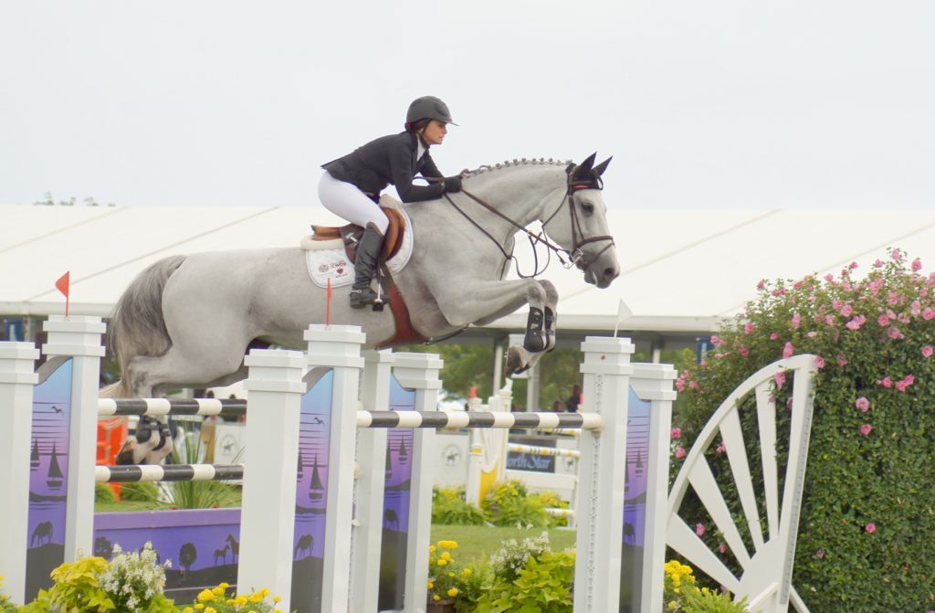 Georgina competed in fine form at The Hamptons over Labor Day Weekend.