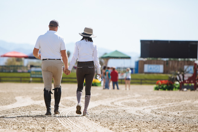 Max Doelger and Susan Artes Walk the Course