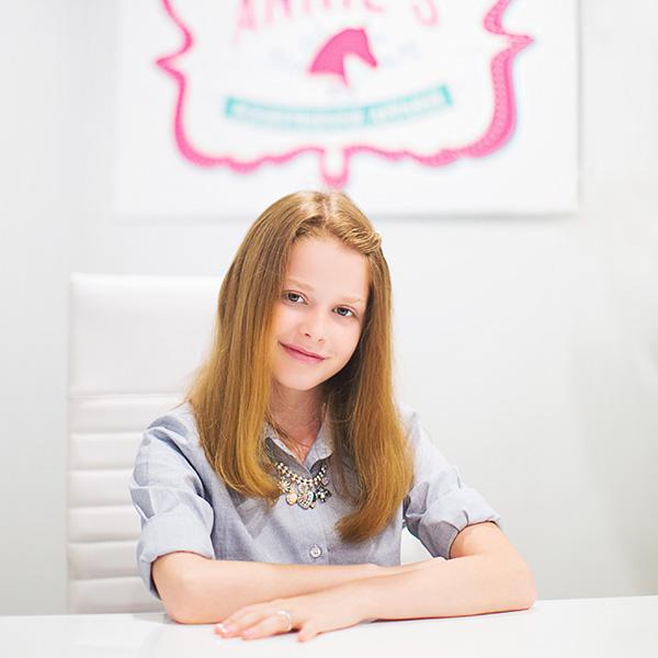 Annie, co-founder of Annie's Equestrienne Apparel