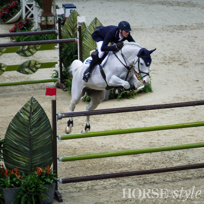 Daniel Deusser and Cornet d'Amour finished third in the Speed Round