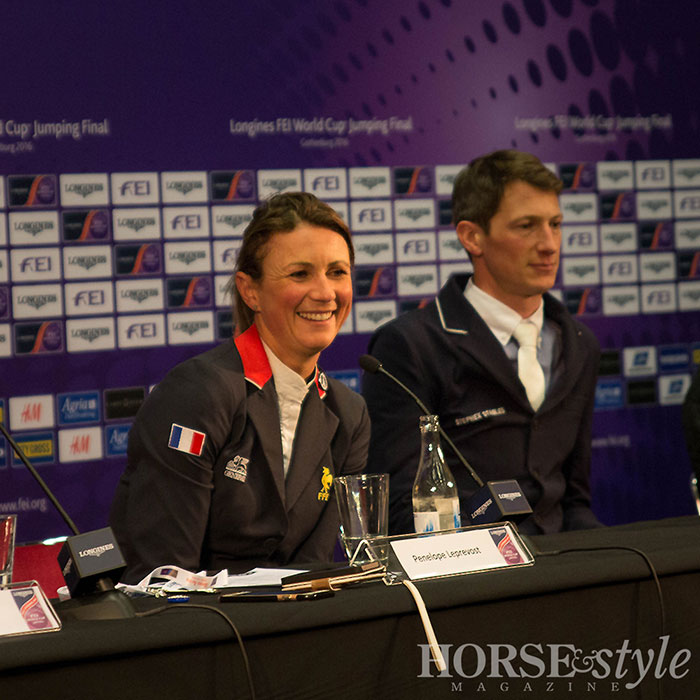 Penelope Leprevost at the Press Conference after the first round of the Longines FEI World Cup Final