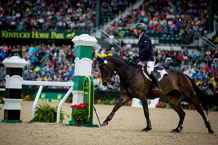 Michael Jung and Fischerrocana enter the Rolex Arena | Photo © Ashley Neuhof