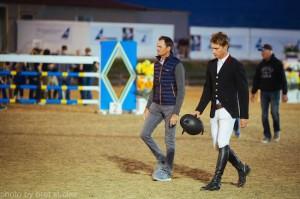 Karl Cook and Eric Navet on coursewalk